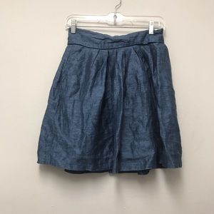 Zara basic blue ruffle skirt sz Small